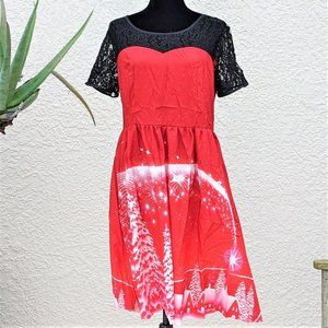 Starry Night Dress with Black Lace (NWT)